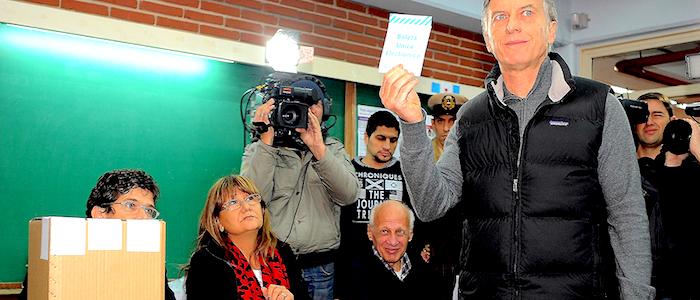 El Presidente electo argentino por la coalición política Cambiemos, Mauricio Macri.