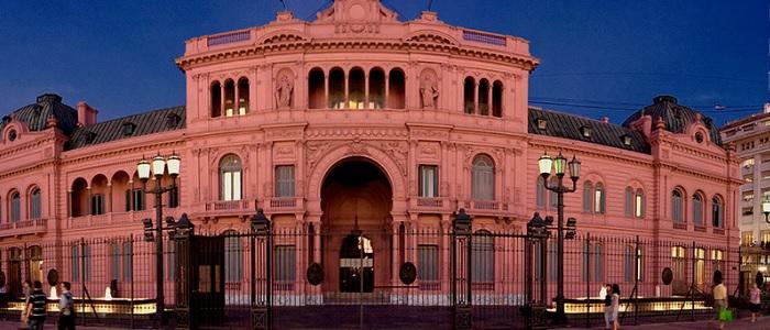 La Casa Rosada, sede del Poder Ejecutivo de la República Argentina.