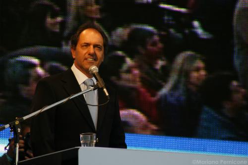 El candidato del Frente para la Victoria, Daniel Scioli.