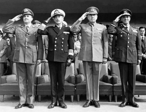 Miembros de la Junta Militar que derrocó al Presidente Salvador Allende.