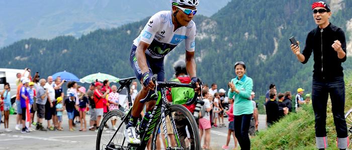 El ciclista boyacense Nairo Quintana durante el Tour de Francia 2015.