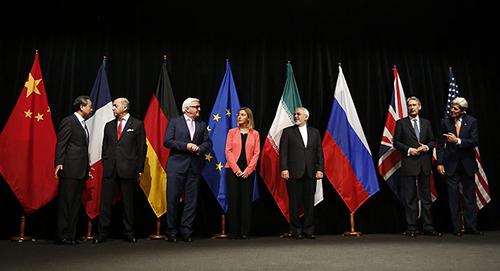 Negociadores del tratado nuclear con Irán.