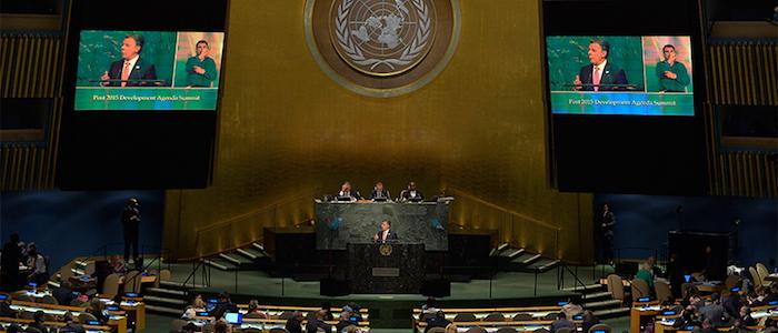 El Presidente Santos ante la Asamblea General de las Naciones Unidas.