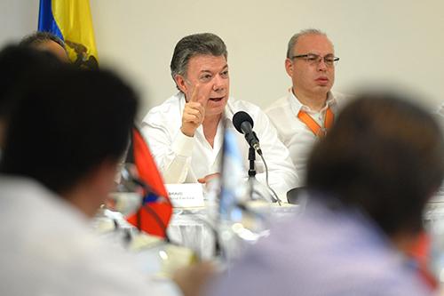 El Presidente Juan Manuel Santos Calderón.