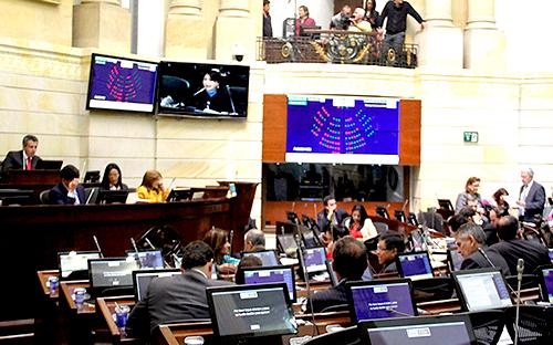 Plenaria del Senado en el Capitolio Nacional.