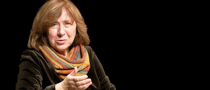 La Nobel de literatura bielorrusa, Svetlana Alexievich.