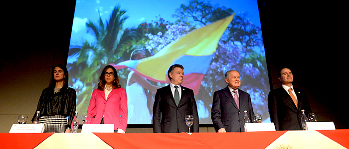 Ceremonia de proclamación de beneficiarios Colfuturo del año 2015.