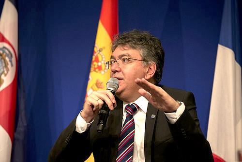 El Ministro de Hacienda, Mauricio Cárdenas Santamaría.