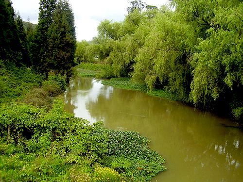 El Río Bogotá en su paso por Briceño.