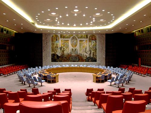 Cámara del Consejo de Seguridad de la ONU en la sede de la organización en Nueva York.