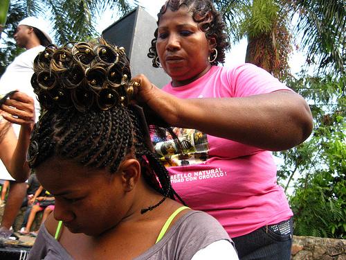 Mujeres afro en Cali, Valle del Cauca.