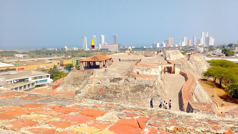 La muralla de Cartagena