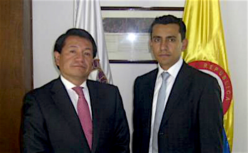 El Defensor Delegado para los Asuntos Constitucionales y Legales de la Defensoría del Pueblo, Luis Manuel Castro y Jorge Armando Otalora, exdefensor del Pueblo.