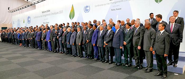 Delegados participantes en la Conferencia del Cambio Climático 2015 realizada en París.