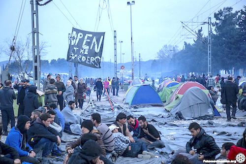 Campo de refugiados Idomeni en Grecia.