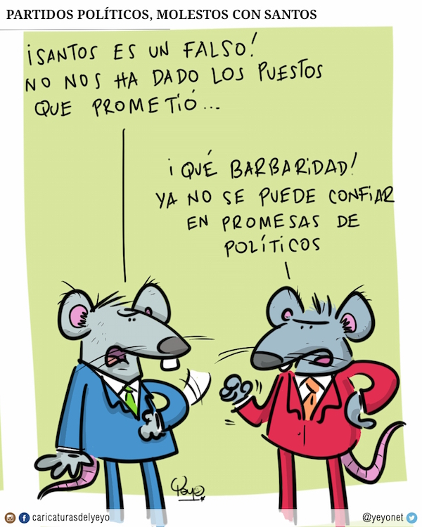 partidos políticos molestos con Santos