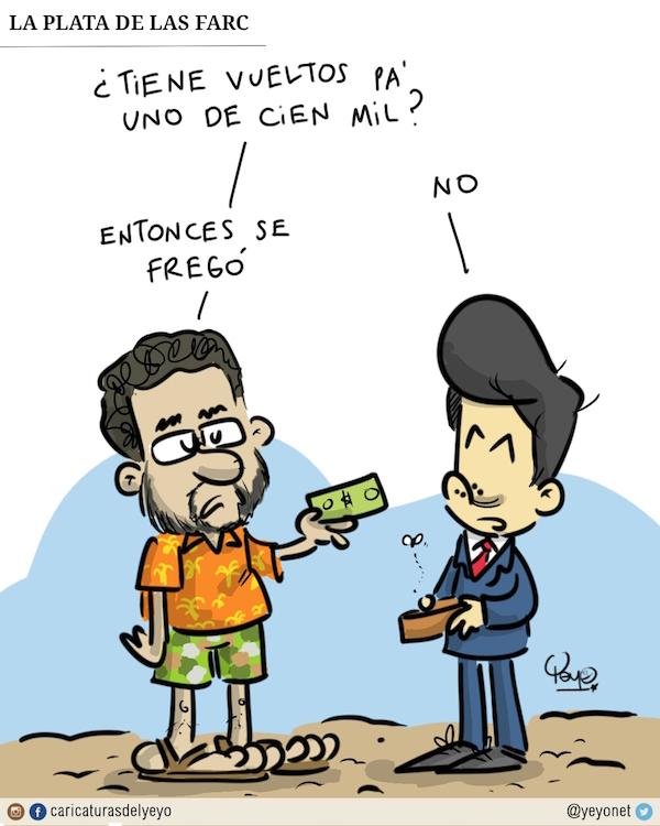 La plata de las FARC