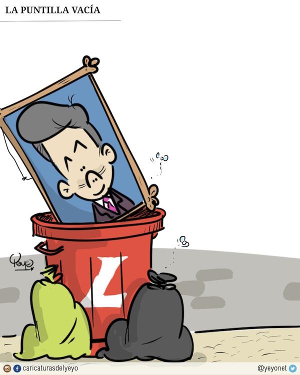 La puntilla vacía. El cuadro de Juan Manuel del partido liberal en la caneca