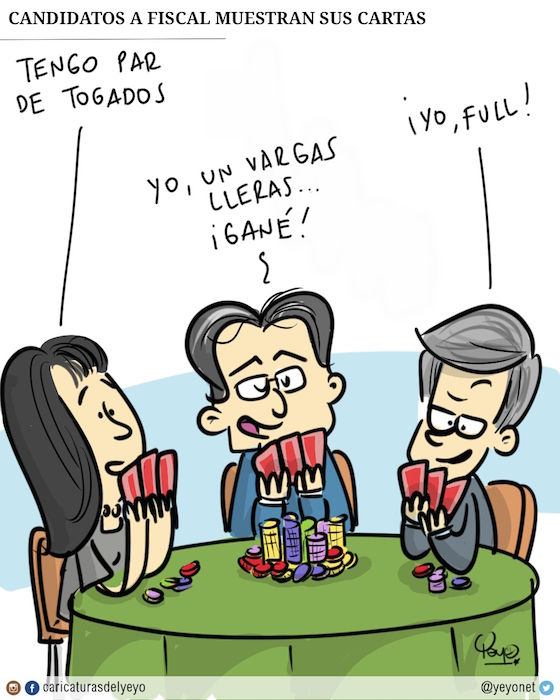 los candidatos a fiscal