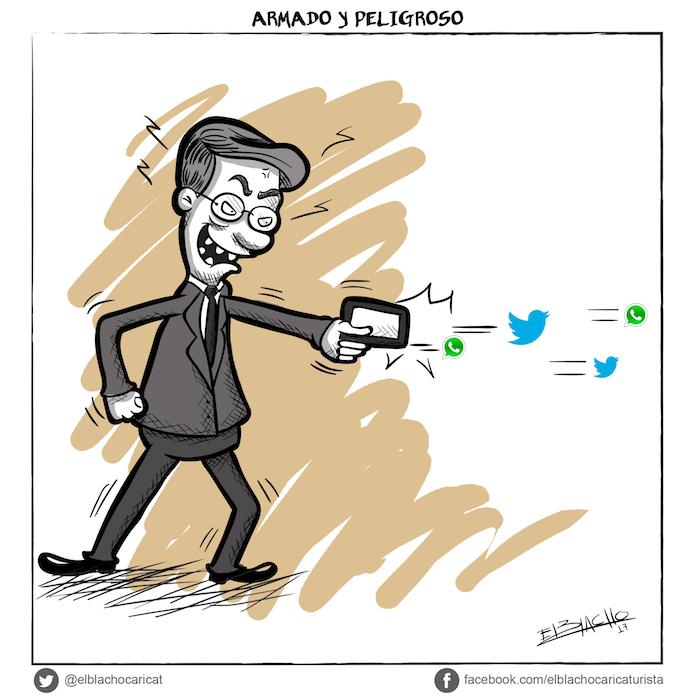 Uribe armado con el Twitter