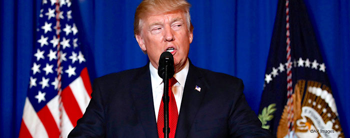 Pronunciamiento del Presidente Donald Trump frente al programa nuclear de Corea del Norte.