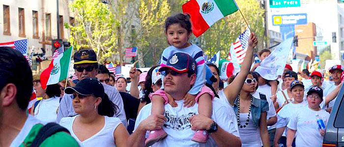 Inmigrantes mexicanos en Estados Unidos.