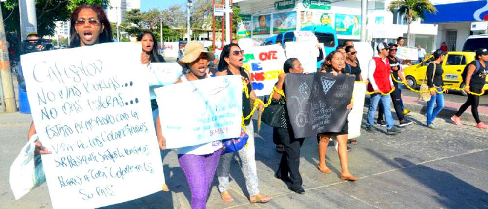 Manifestaciones por servicios en Cafesalud.