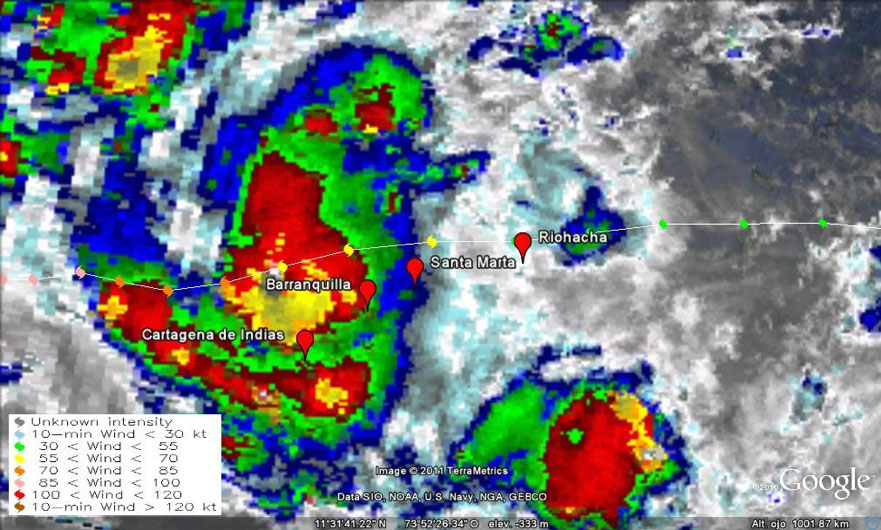 Imagen de satélite GOES 13