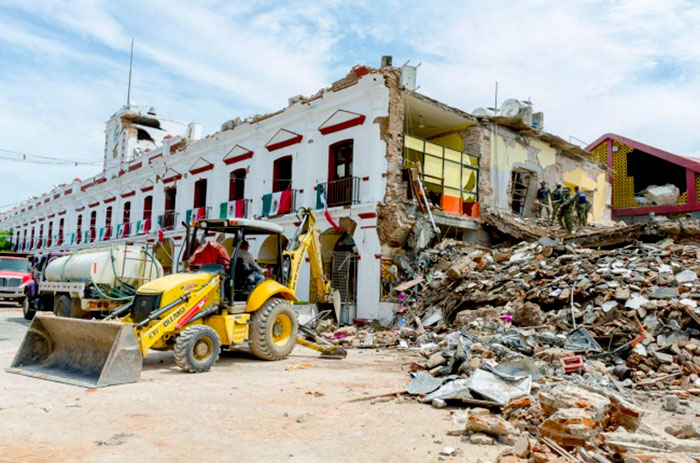 Estragos del terremoto en México.
