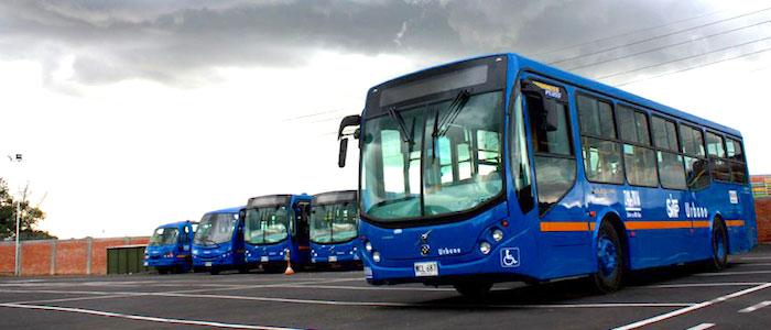 Buses del Sistema Integrado de Transporte.