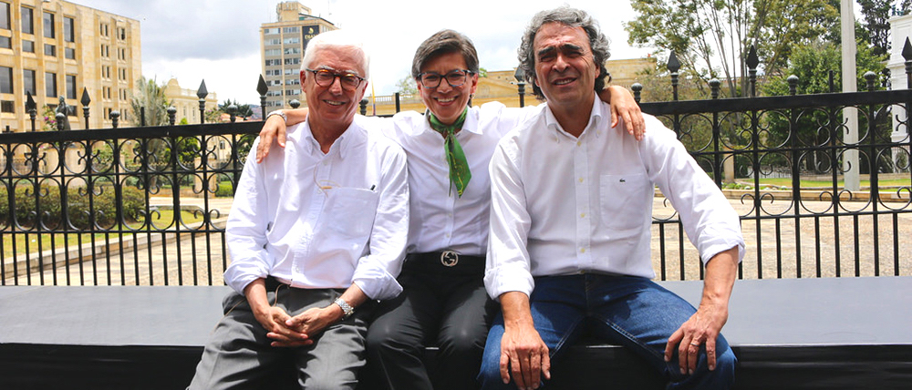 Coalición entre Claudia López, Jorge Enrique Robledo, y Sergio Fajardo.