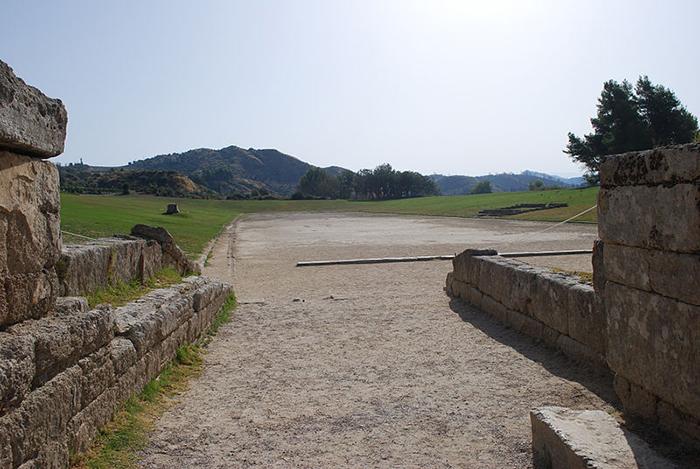 Ruinas del estadio de Olimpia.