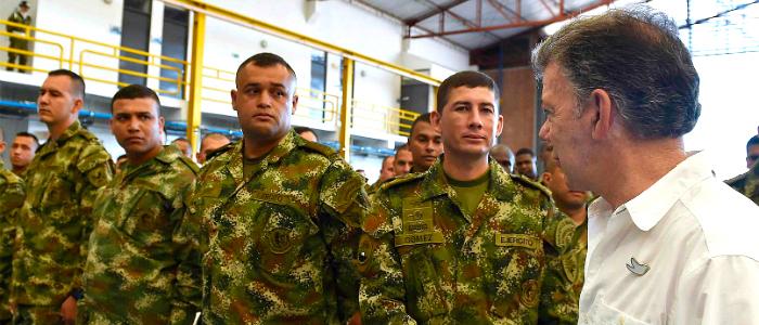Presidente Juan Manuel Santos y Fuerzas Militares