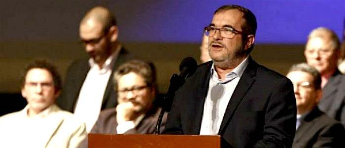 Rodrigo Londoño, presidente del partido de las FARC.
