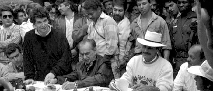 Acuerdos de Paz entre el M-19 y el Gobierno Nacional.