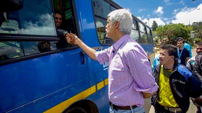 Alcalde Enrique Peñalosa sobre el SITP.