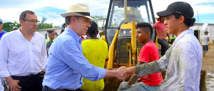 Presidente Santos en zonas veredales