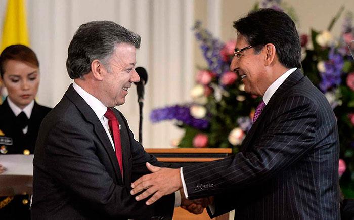 Presidente Juan Manuel Santos en la posesión del Fiscal General de la Nación, Néstor Humberto Martínez.