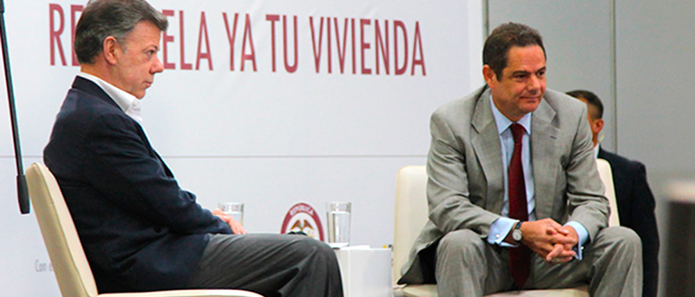 Presidente Juan Manuel Santos junto al ex vicepresidente Germán Vargas Lleras.
