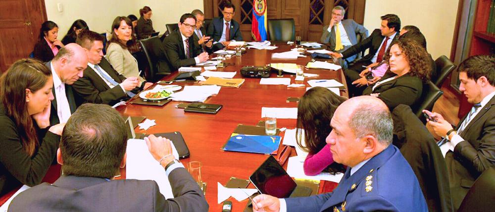 Reunión de la Jurisdicción Especial para la Paz, JEP.