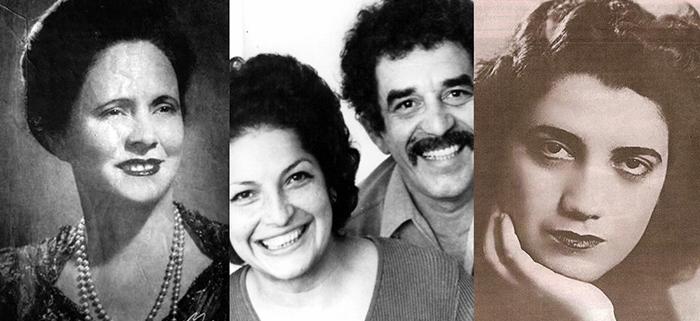 Algunas de las mujeres escritoras colombianas, Amira de la Rosa, Flor Romero, y Meira del Mar.