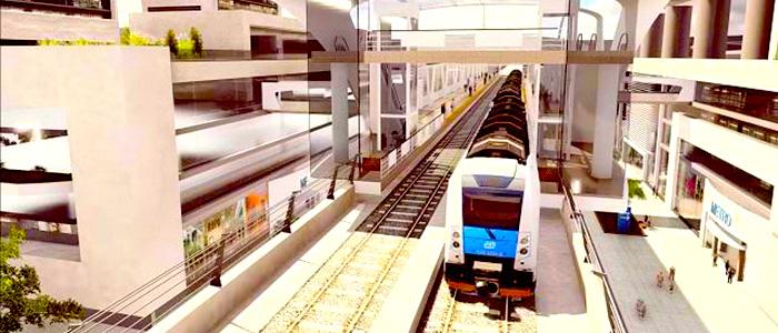 Render del Metro de Bogotá.