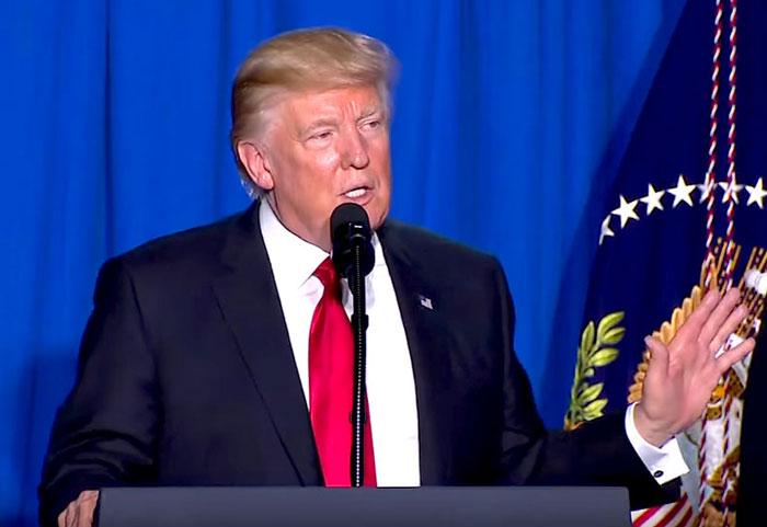 Presidente de los Estados Unidos, Donald Trump.