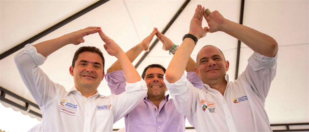 Luis Felipe Henao, Alejandro Char y Germán Vargas