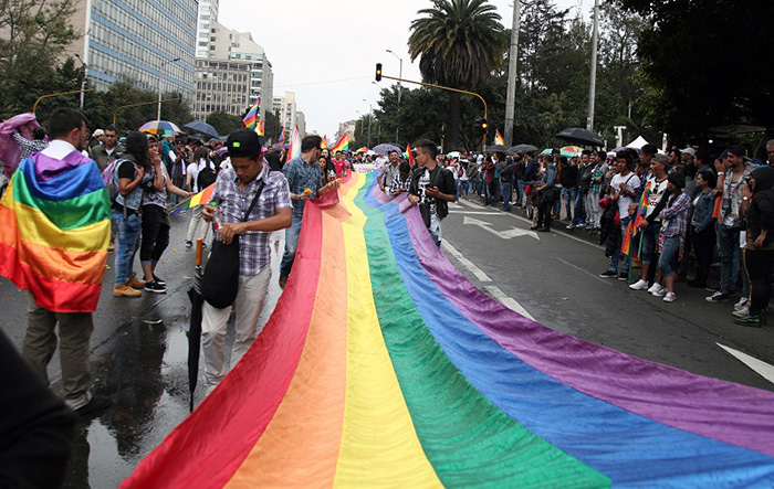 marcha en Bogotá de Comunidad LGBT.
