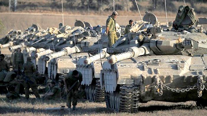Hombres armados en el conflicto entre Palestina e Israel.