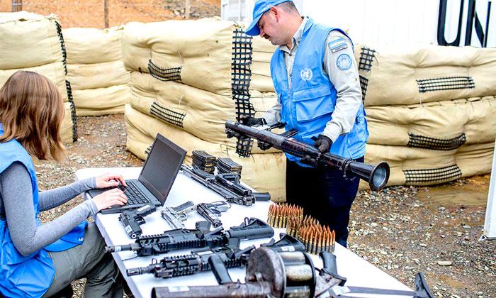 Dejación de armas por parte de las FARC.