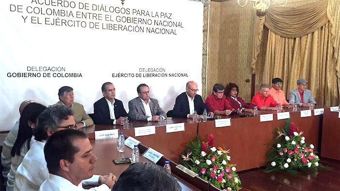 Negociaciones entre el Gobierno y el Ejército de Liberación Nacional, ELN.