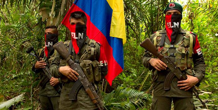 Miembros del Ejército de Liberación Nacional, ELN.
