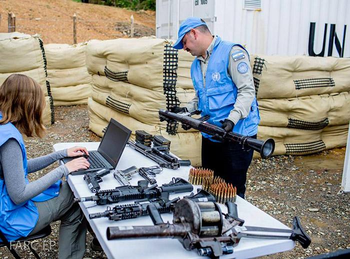 Entrega de Armas por parte de las FARC.